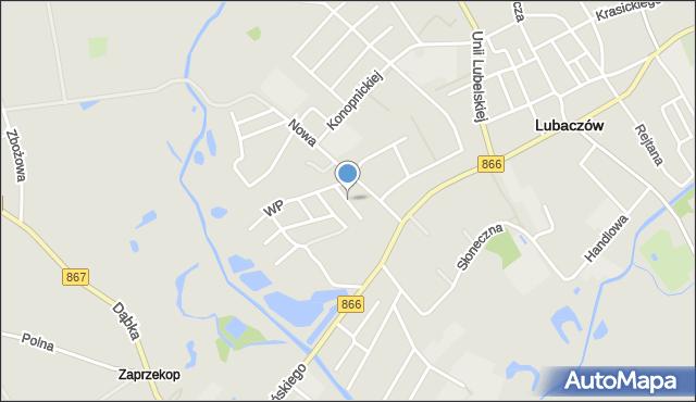 Lubaczów, Kombatantów, mapa Lubaczów