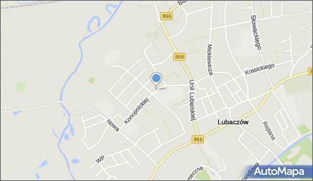 Lubaczów, Konopnickiej Marii, mapa Lubaczów