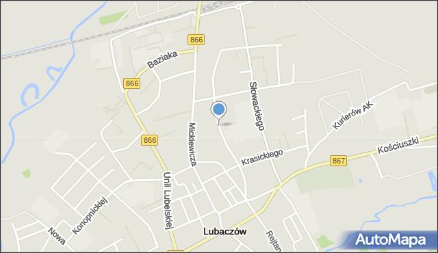 Lubaczów, Kopernika Mikołaja, mapa Lubaczów
