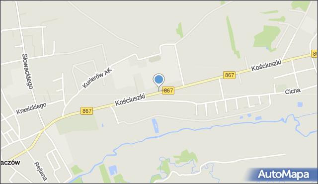 Lubaczów, Kościuszki Tadeusza, gen., mapa Lubaczów
