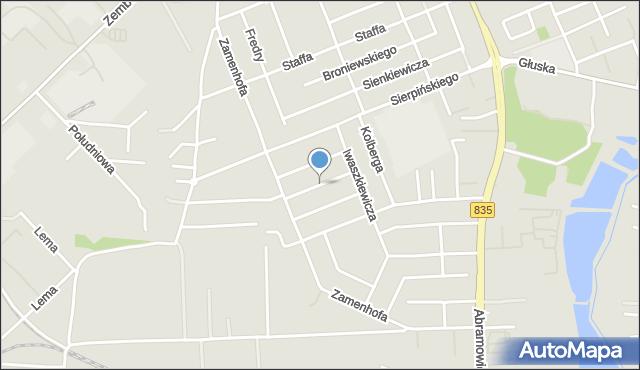 Lublin, Konarskiego Stanisława, mapa Lublina