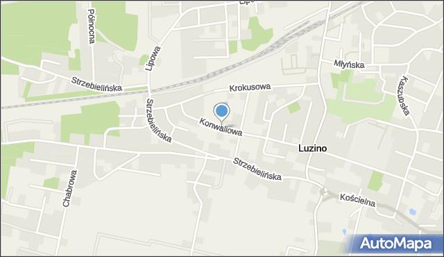 Luzino, Konwaliowa, mapa Luzino