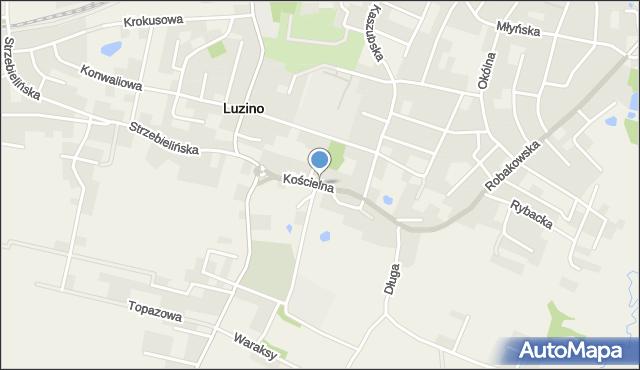 Luzino, Kościelna, mapa Luzino