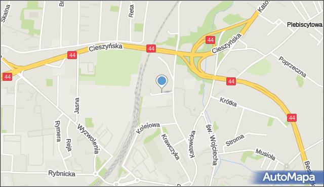Mikołów, Koja Jana, mapa Mikołów