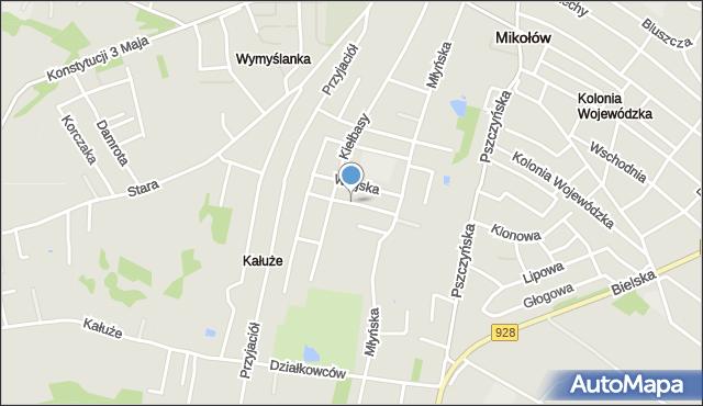 Mikołów, Kowalska, mapa Mikołów
