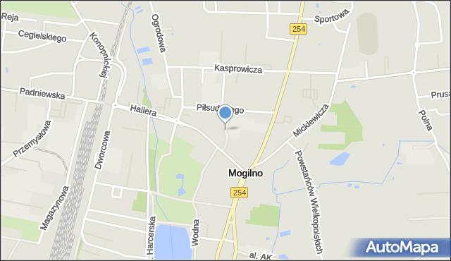 Mogilno, Korczaka Janusza, mapa Mogilno