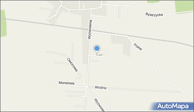 Mrozów, Konwaliowa, mapa Mrozów