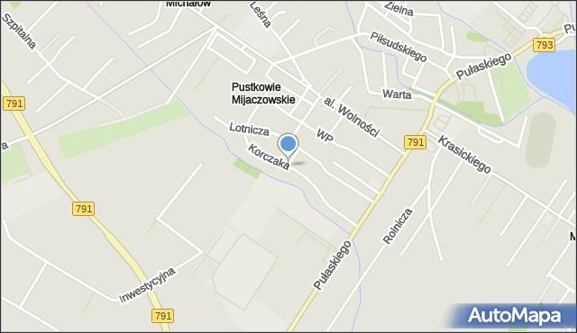 Myszków, Korczaka Janusza, mapa Myszków