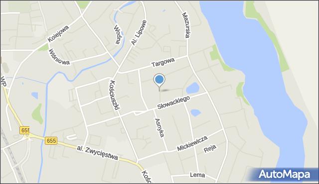 Olecko, Konopnickiej Marii, mapa Olecko