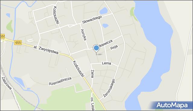 Olecko, Korczaka Janusza, mapa Olecko