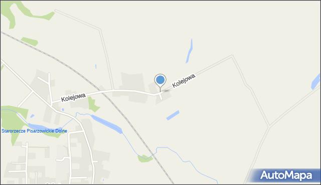 Pisarzowice gmina Miękinia, Kolejowa, mapa Pisarzowice gmina Miękinia