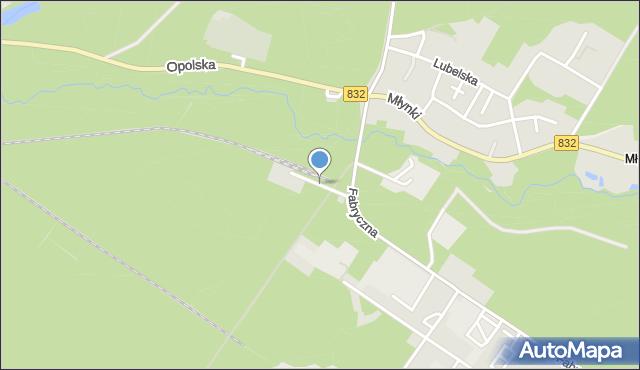 Poniatowa powiat opolski, Kolejowa, mapa Poniatowa powiat opolski