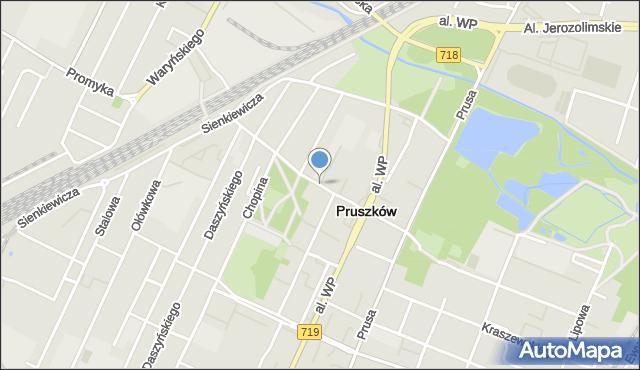 Pruszków, Kościuszki Tadeusza, gen., mapa Pruszków