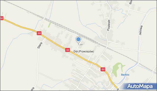 Przeciszów, Kolejowa, mapa Przeciszów