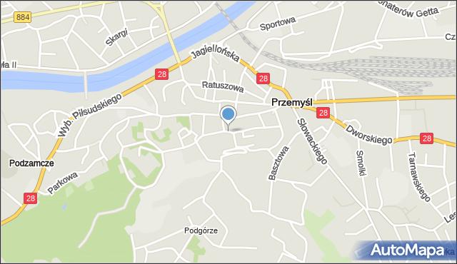 Przemyśl, Kocyłowskiego Jozafata, bł. bp., mapa Przemyśla