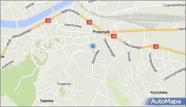 Przemyśl, Komisji Edukacji Narodowej, mapa Przemyśla