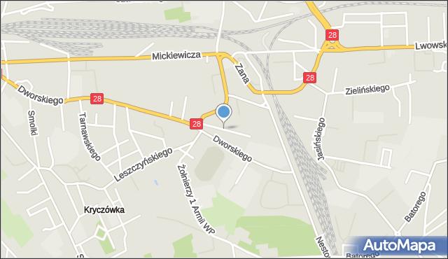 Przemyśl, Korzeniowskiego Józefa, mapa Przemyśla