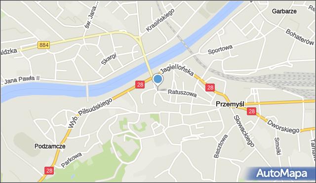 Przemyśl, Kościuszki Tadeusza, gen., mapa Przemyśla