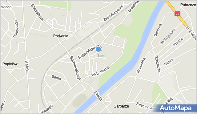 Przemyśl, Koźmiana Kajetana, mapa Przemyśla