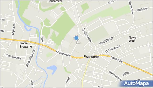 Przeworsk, Konopnickiej Marii, mapa Przeworsk