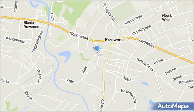 Przeworsk, Kościelna, mapa Przeworsk