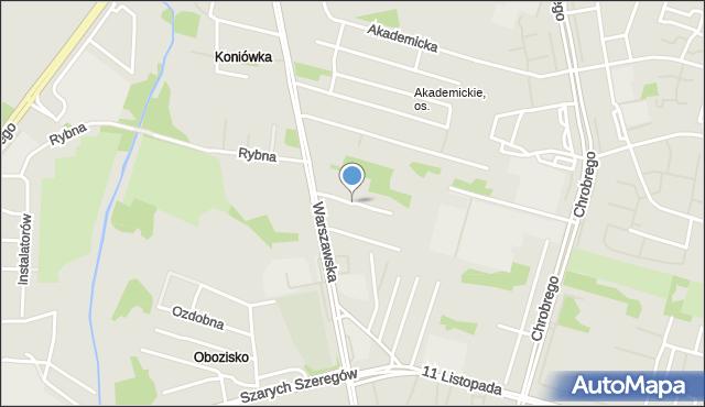 Radom, Kopalniana, mapa Radomia