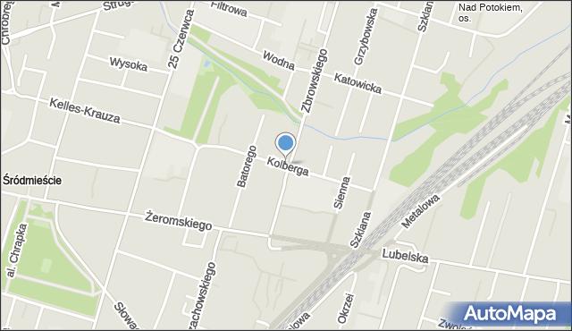 Radom, Kolberga Oskara, mapa Radomia