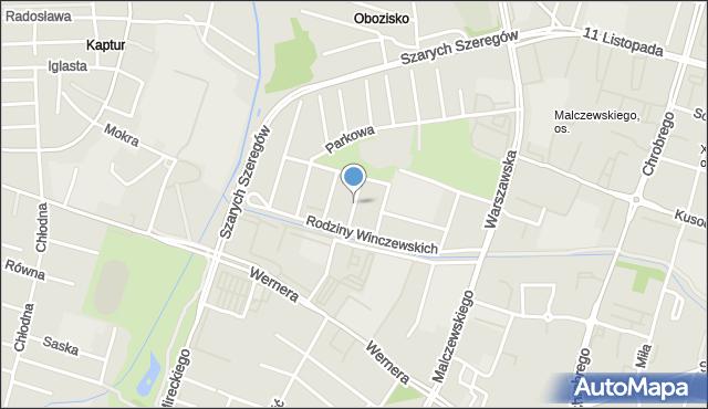 Radom, Kołłątaja Hugo, mapa Radomia