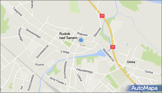 Rudnik nad Sanem, Koszykarska, mapa Rudnik nad Sanem