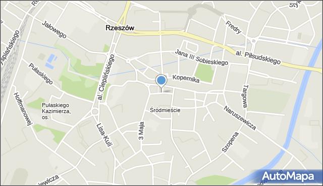 Rzeszów, Kościuszki Tadeusza, gen., mapa Rzeszów