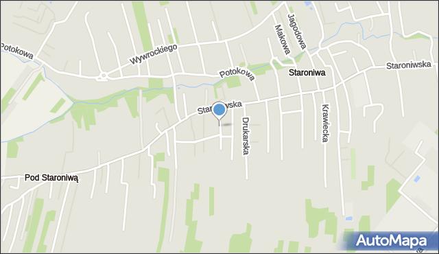 Rzeszów, Kowalska, mapa Rzeszów