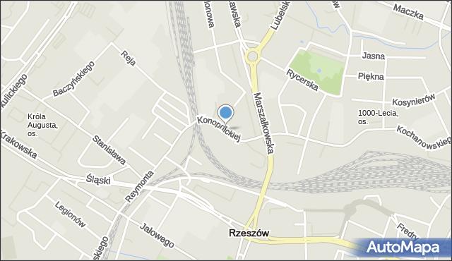Rzeszów, Konopnickiej Marii, mapa Rzeszów