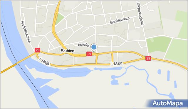 Słubice, Kościuszki Tadeusza, gen., mapa Słubice