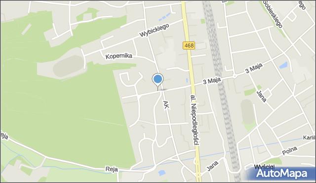 Sopot, Kochanowskiego Jana, mapa Sopotu