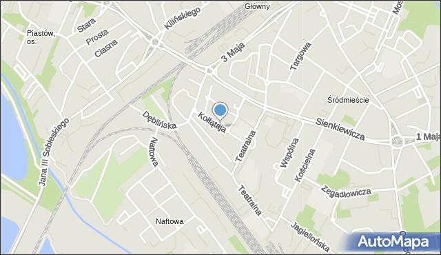 Sosnowiec, Kołłątaja Hugo, mapa Sosnowca