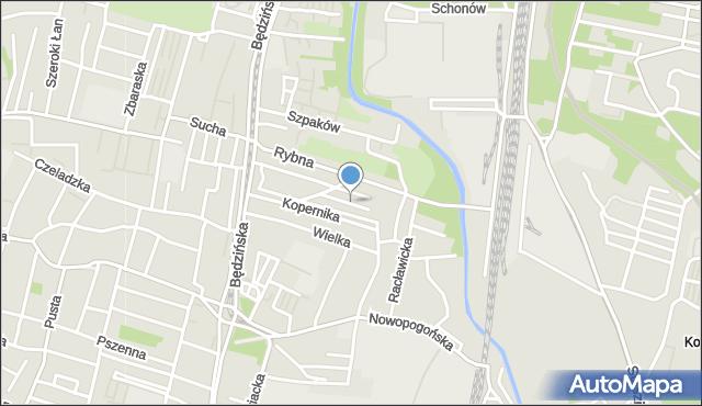 Sosnowiec, Kolibrów, mapa Sosnowca