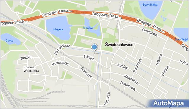 Świętochłowice, Kochanowskiego Jana, mapa Świętochłowice