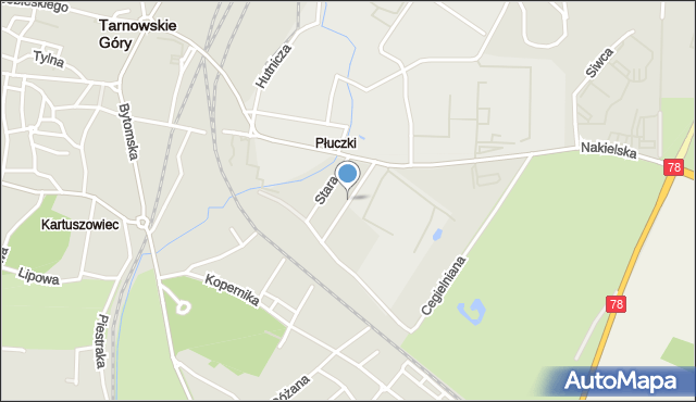 Tarnowskie Góry, Kochanowskiego Jana, mapa Tarnowskie Góry