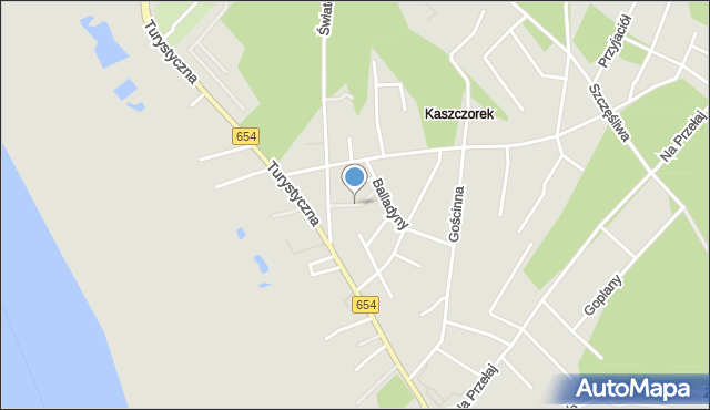 Toruń, Kocia, mapa Torunia