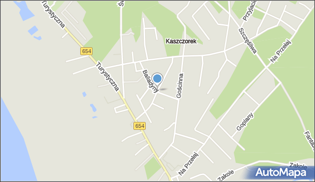 Toruń, Kogucia, mapa Torunia