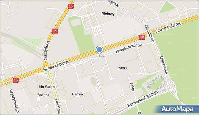 Toruń, Kolankowskiego Ludwika, mapa Torunia
