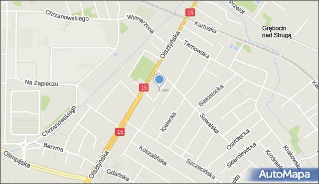 Toruń, Konińska, mapa Torunia