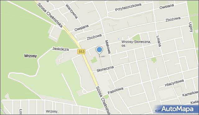 Toruń, Konopna, mapa Torunia