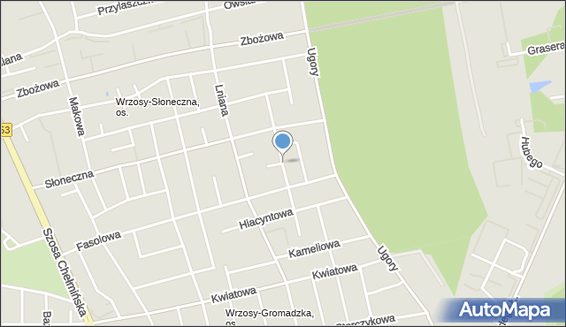 Toruń, Konwaliowa, mapa Torunia