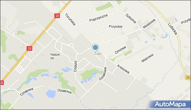 Toruń, Kopciuszka, mapa Torunia