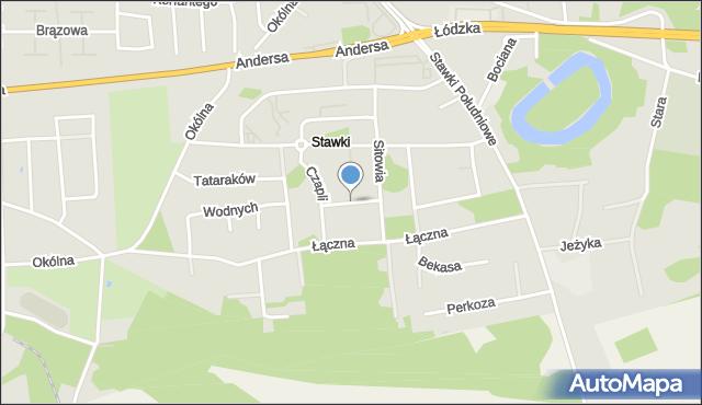 Toruń, Kormorana, mapa Torunia