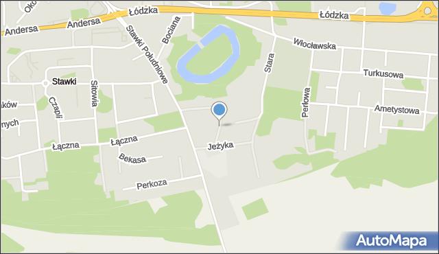 Toruń, Kosa, mapa Torunia
