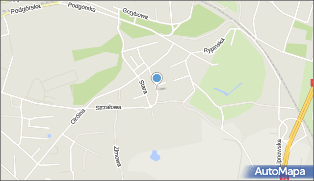 Toruń, Kościelna, mapa Torunia