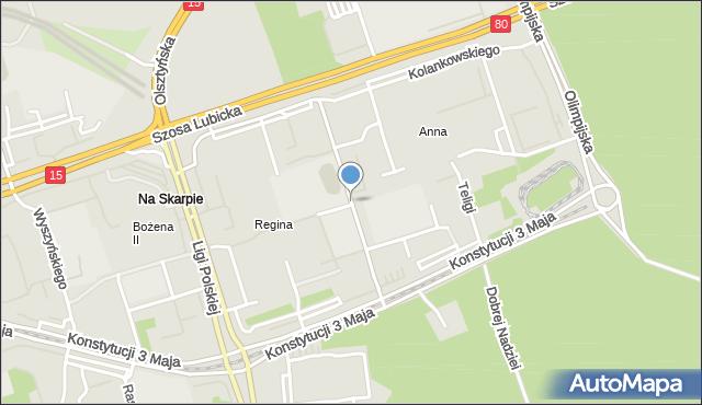 Toruń, Kosynierów Kościuszkowskich, mapa Torunia
