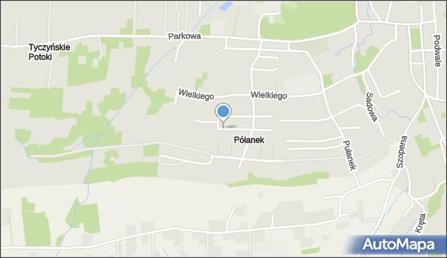 Tyczyn powiat rzeszowski, Konopnickiej Marii, mapa Tyczyn powiat rzeszowski